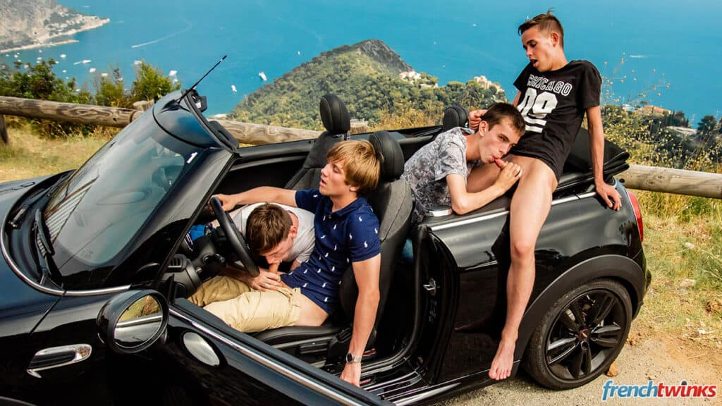 French Twinks, Riviera Orgy, Justin Leroy, Ethan Duval, Lucas Bouvier, Mael Dumas