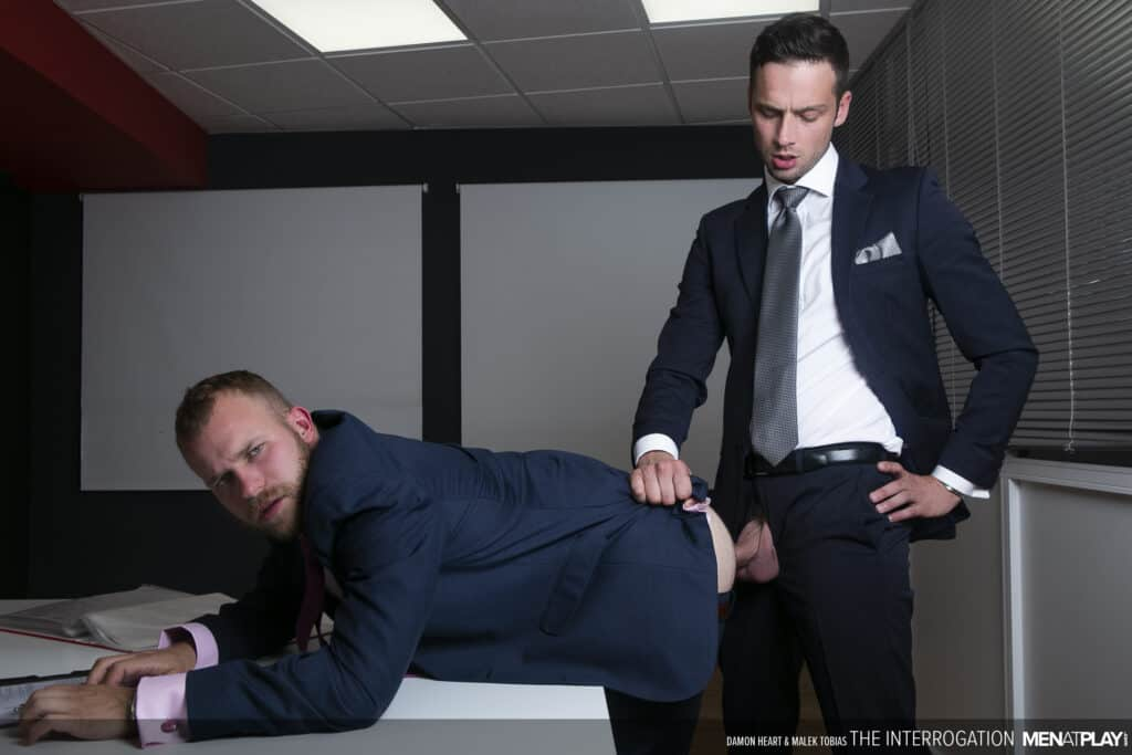 Men at Play, Damon Heart, Malek Tobias, The Interrogation