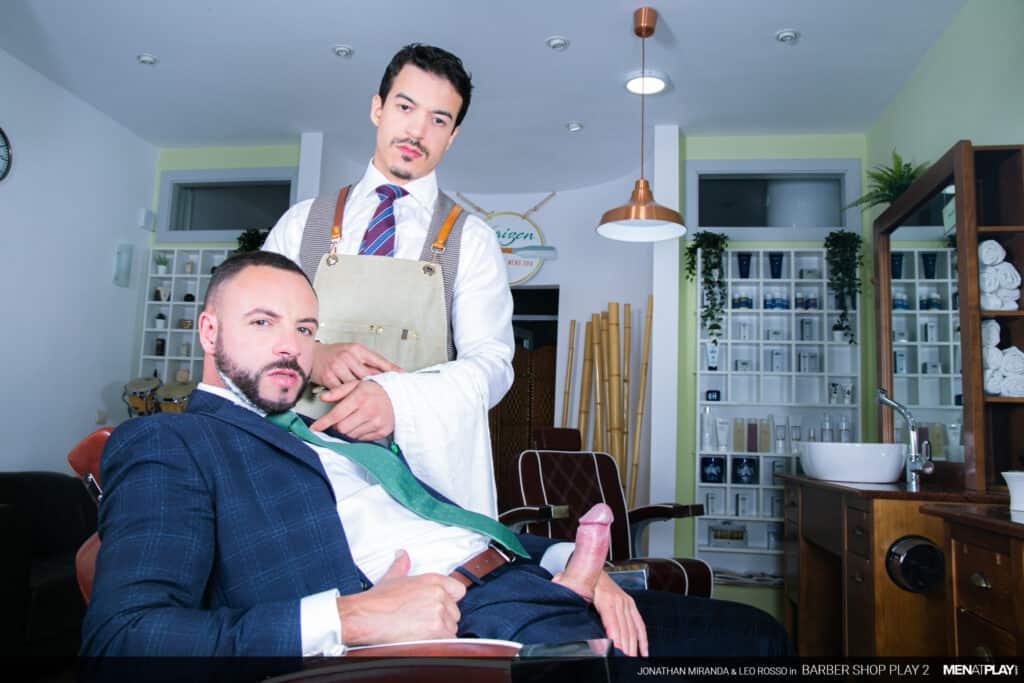 menatplay, barbershop, Leo Rossi, Jonathan Miranda, barber